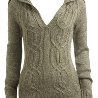 Cable Knit Hooded Sweater  | Shop Just Arrived at Wet Seal