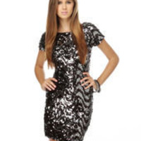 Law of Gravity Sequin Dress