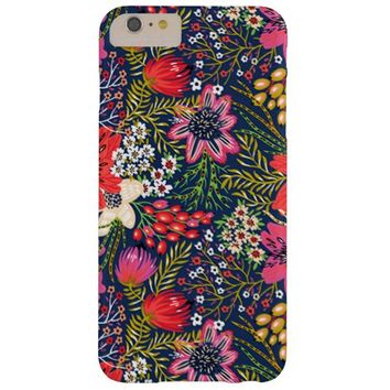 Vintage Bright Floral Pattern Fabric iPhone 6 Plus Case