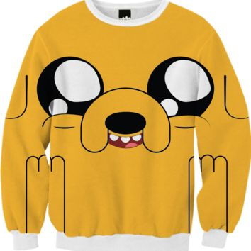 Adventure Time - Jake Sweatshirt created by Alessandro Aru | Print All Over Me