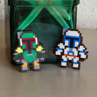 Jango & Boba Fett 2 Pin Star Wars Fan Art Brooch Accessories