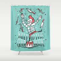 All up in the air Shower Curtain by Matthew Taylor Wilson