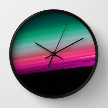 Fuchsia to Teal Smooth Ombre Wall Clock by 2sweet4words Designs