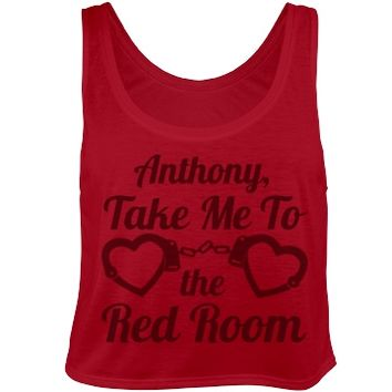 take me to the red room 50 shades of grey red crop top