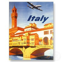 Vintage Travel Poster, Italy Postcard from Zazzle.com
