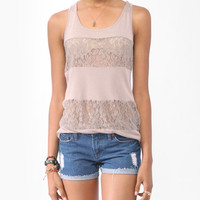 Lace Panels Racerback Tank