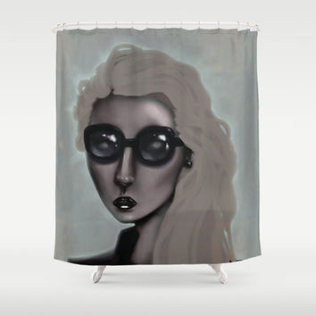 Shades with a Glow Shower Curtain by Ben Geiger