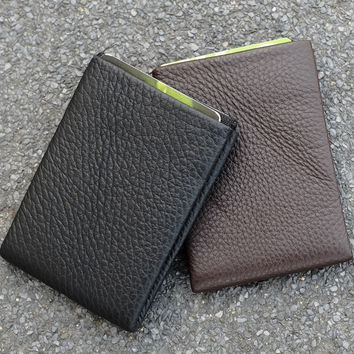 NERO™ Leather Wallet - 4 RFID protected pockets for credit cards and 1 RFID pass