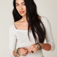 Free People Cropped VNeck Pullover at Free People Clothing Boutique