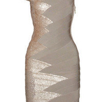 Discount Herv? L?ger Sequin-embellished bandage dress|THE OUTNET