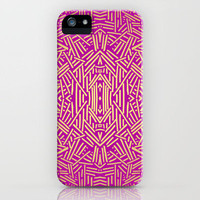 Radiate (Gold Raspberry) iPhone Case by Jacqueline Maldonado | Society6
