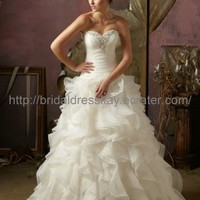 Sweetheart Organza Designer's Wedding Dress