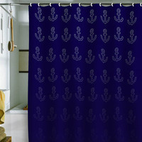 DENY Designs Home Accessories | Leah Flores Anchor Pattern Shower Curtain