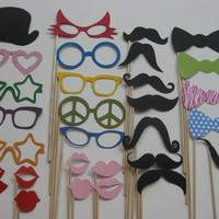 Photo Booth Party Props The ULTIMATE by olivetreemonograms