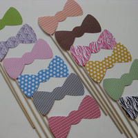 Photo Booth Props on a Stick Bow Ties Set by olivetreemonograms