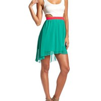 Cutout Side 2-Fer Dress: Charlotte Russe