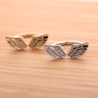 ANGEL&#x27;s WING ring, 2 colors | girlsluv.it - handmade jewelry collection, ETSY, Artfire, Zibbet, Earrings, Necklace