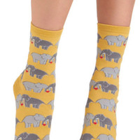 ModCloth Quirky I Link I Love You Socks
