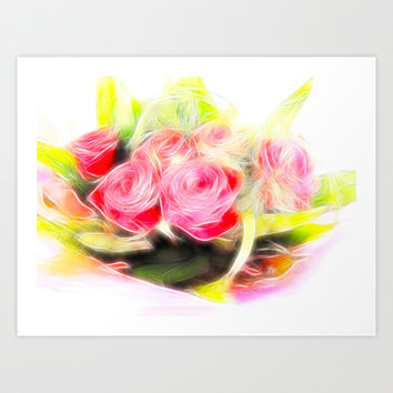 Bouquet of red Art Print by Shalisa Photography