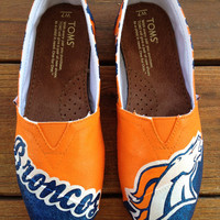 Denver Broncos - Painted Custom TOMS or BOBS