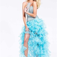 Petite A-line Sweetheart High Low Organza Prom Dress-$139.99-ReliableTrustStore.com