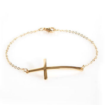 Cute Cross Bracelet - Freindship Bracelet - $8.00