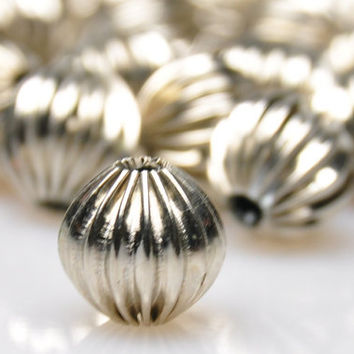 5 Pieces Matte Silver Ball Spacer Beads, Silver Bead Spacers, Jewelry Findings, Jewelry Making Supply
