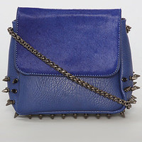 The Spiked Gemma Bag in Blue
