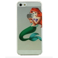Disney Princess - Little Mermaid Ariel Holding Logo Clear Transparent Case For Apple Iphone 6 (4.7-Inch)