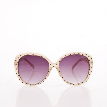 Dotted Sunnies in Beige - ShopSosie.com