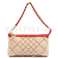 YESSTYLE: Fendi- Zucca Red Pochette (Beige) - Free International Shipping on orders over $150