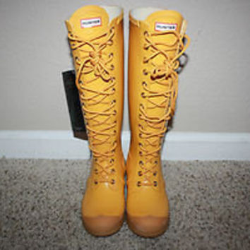 Hunter Watling Womens Rain Boots Size 6 NEW Marigold