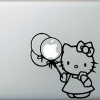 Hello Kitty Ballon Macbookpro Decal | macbookprodecal - Housewares on ArtFire