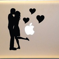 Couple Kissing Macbook Decal Vinyl Sticker for Mac Laptop | KrazyKutz - Housewares on ArtFire