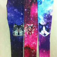 New hot  items leggings women fashion animal galaxy dog cat diamond print