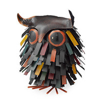 SPIKY OWL SITTER | Garden Sculpture, Woodland Creature, Outdoor Accessories, Backyard Decor, Home Decor | UncommonGoods