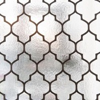 moroccan flock foil wallpaper - black : brocade home