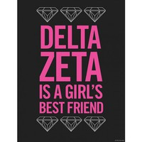 Delta Zeta Girl's Best Friend Print