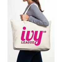 Alpha Phi Canvas Tote Bag - Ivy League