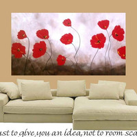 Huge Contemporary modern art painting impasto floral by artmod