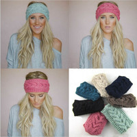 Infinity Ear Warmer, Cable Knit Headbands, Assorted Colors Available