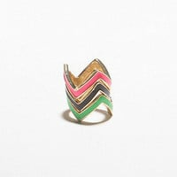 Neon Geo Ring Set