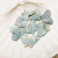 Blue Green Amazonite butterfly bead  Butterfly Necklace Jewelry Supply 1 Bead # 2 #225