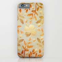 Golden Autumn iPhone & iPod Case by Lisa Argyropoulos