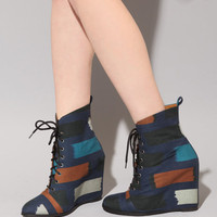 Ikat wedge [Min8302] - &amp;#36;252 : Pixie Market, Fashion-Super-Market