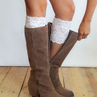 Lace Boot Topper, Boot Cuffs. - Lace Boot Toppers