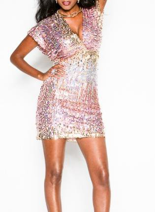 Sequin Dress-Pink Silver Gold Birthday Party Dress