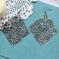tudor garden filigree earrings - $9.99 : ShopRuche.com, Vintage Inspired Clothing, Affordable Clothes, Eco friendly Fashion