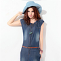 Retro Slim Denim Dress