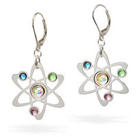 Rutherford-Bohr Model Atom Earrings